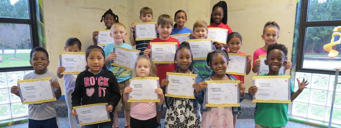 September Fabulous Falcons (grades Prk - 2nd)