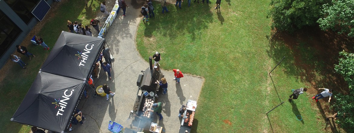 THINC Student Appreciation Cookout - Drone Picture