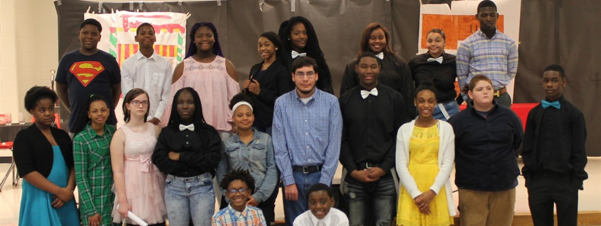 Cast of  Black  History  Play
