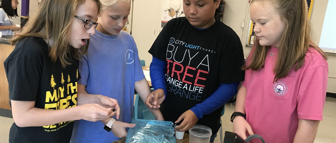 Students build Water Models at GNMS