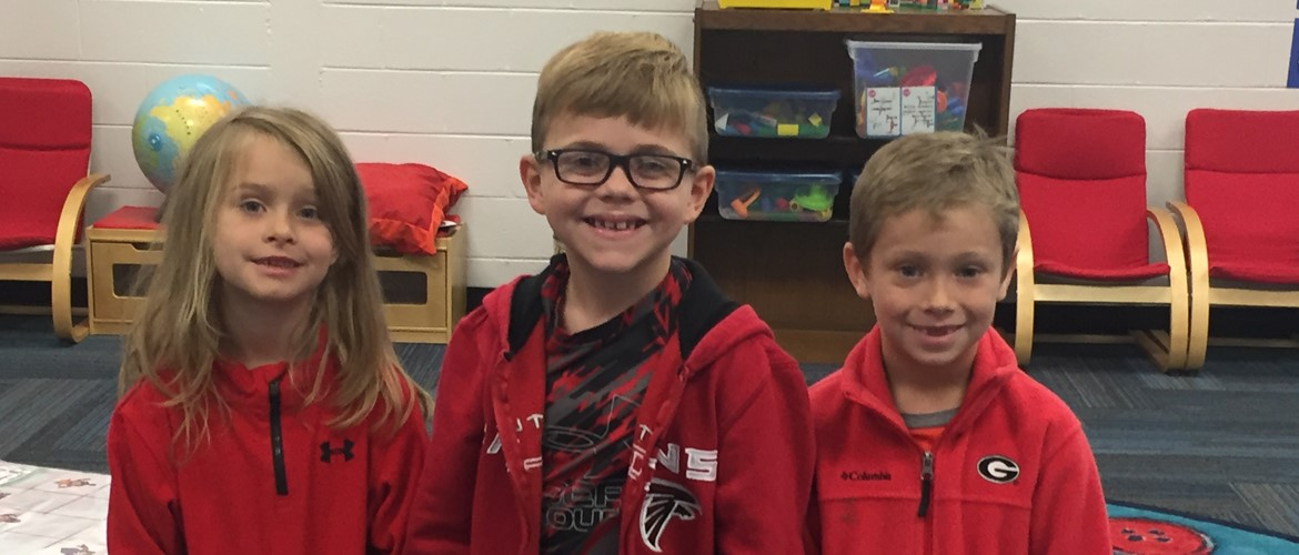 Wearing Red to take the Red Ribbon Week Pledge!