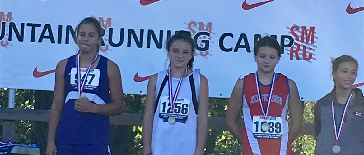 GNMS Cross Country Abbie Lundy medals at State