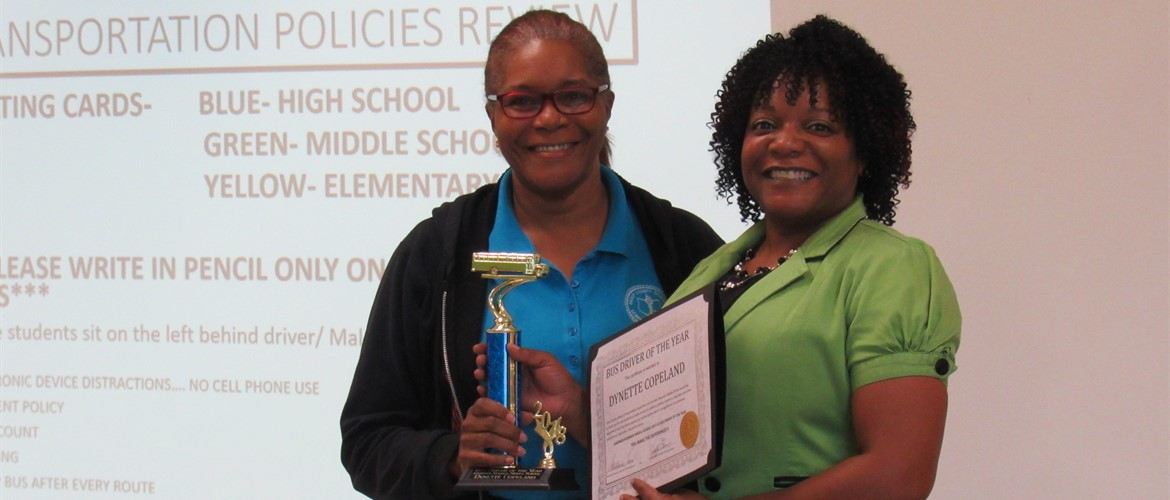 Dynette Copeland named GNMS Bus Driver of the Year
