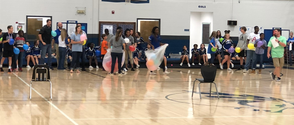 Games at the Pep Rally at GNMS!