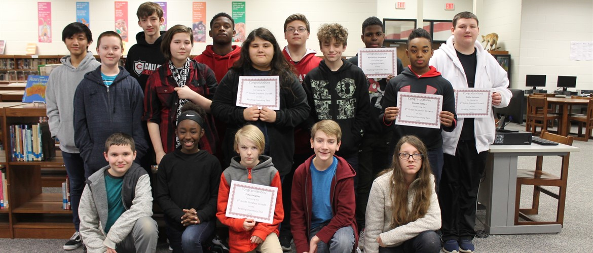 CMS students recognized for Lexile Achievement and Lexile Growth