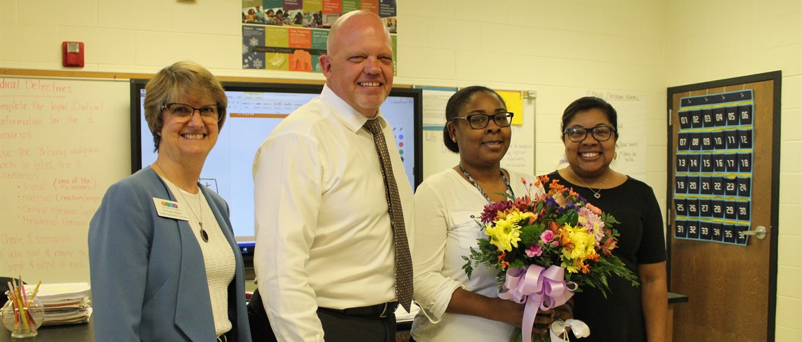 Congrats to Courtney Agurs, TCSS Middle School Teacher of the Year!