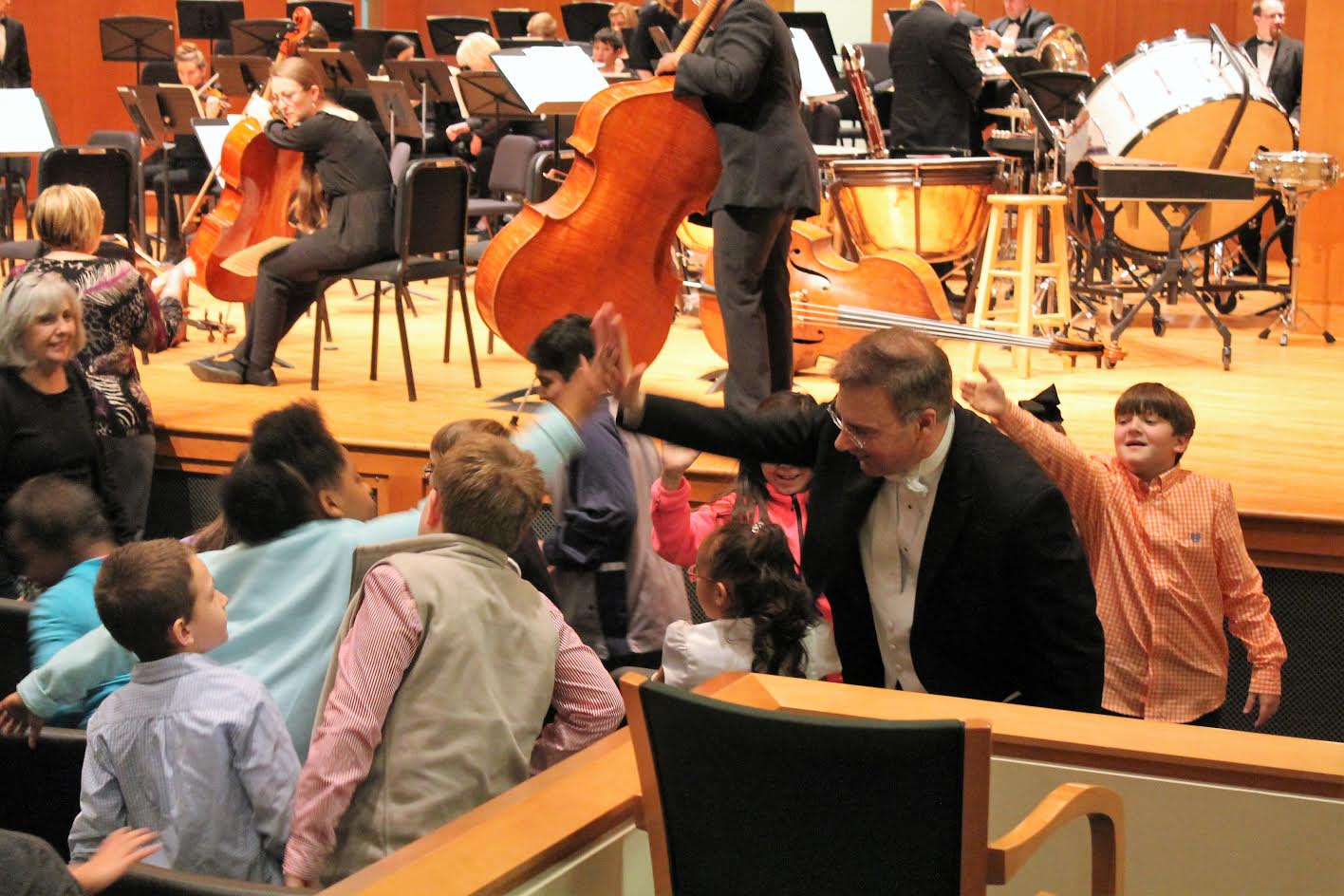 Dr Richard Pryor Conductor and Music Director of LSO Highfives Students