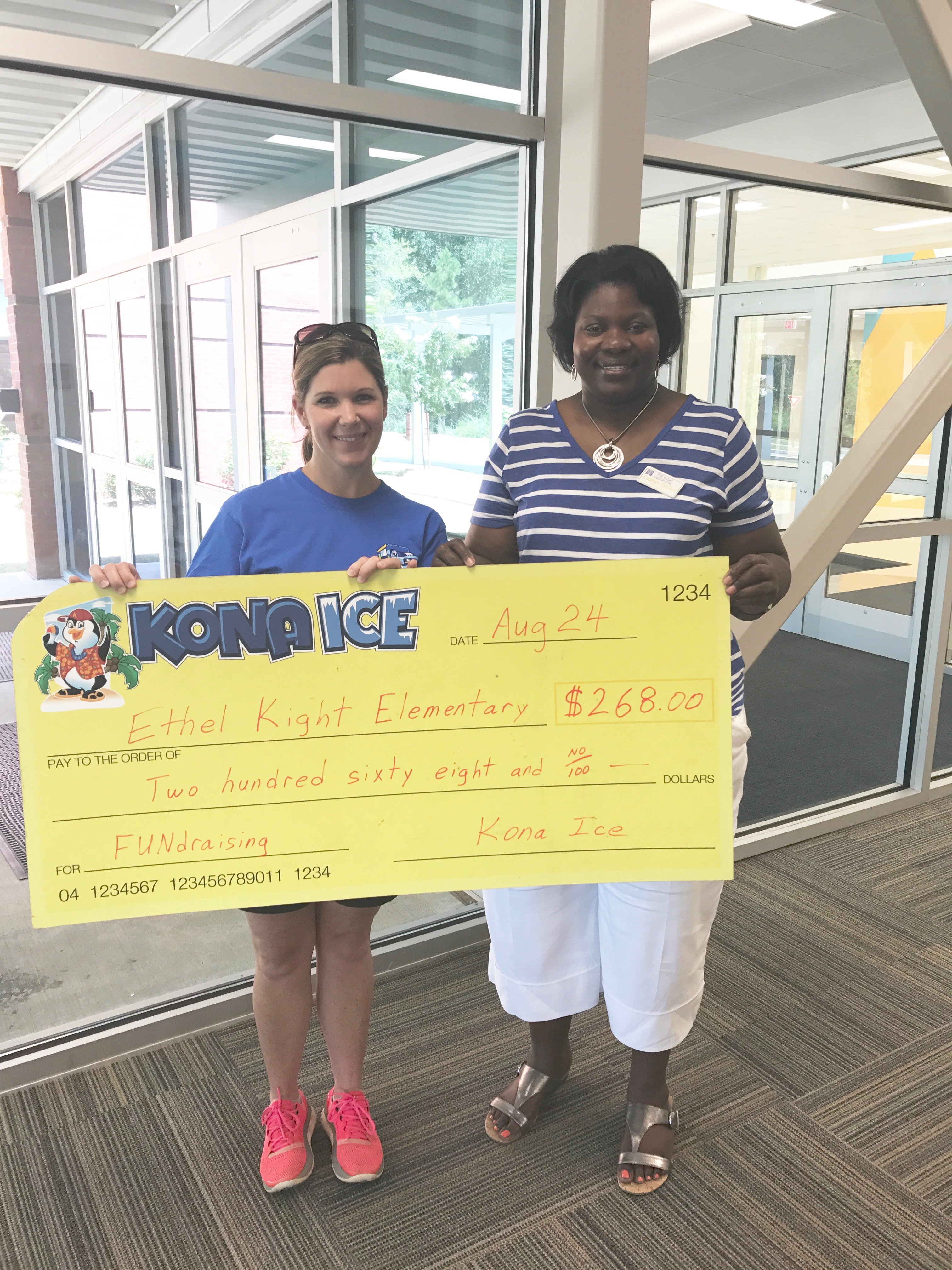 Kona Ice donates to Ethel Kight