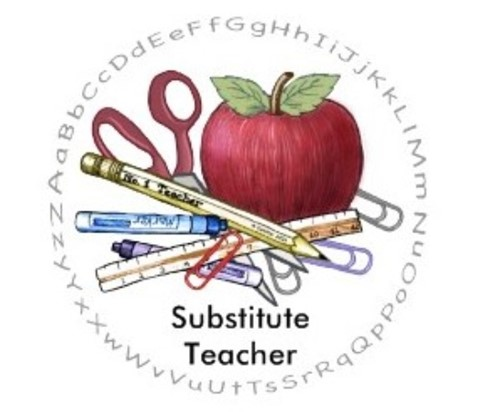 How many school districts use Aesop substitute teachers?