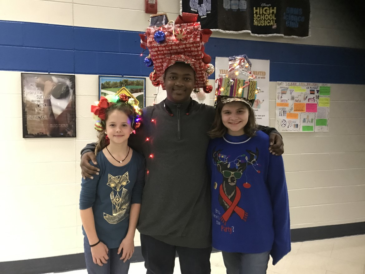 Holiday Hat Day at GNMS