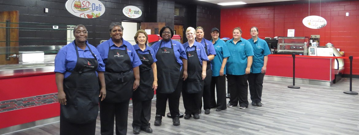 CHS Nutrition Staff in the remodeled Cafeteria.