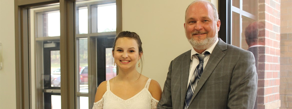 Grace Summers - Callaway High Valedictorian w/Principal Laney