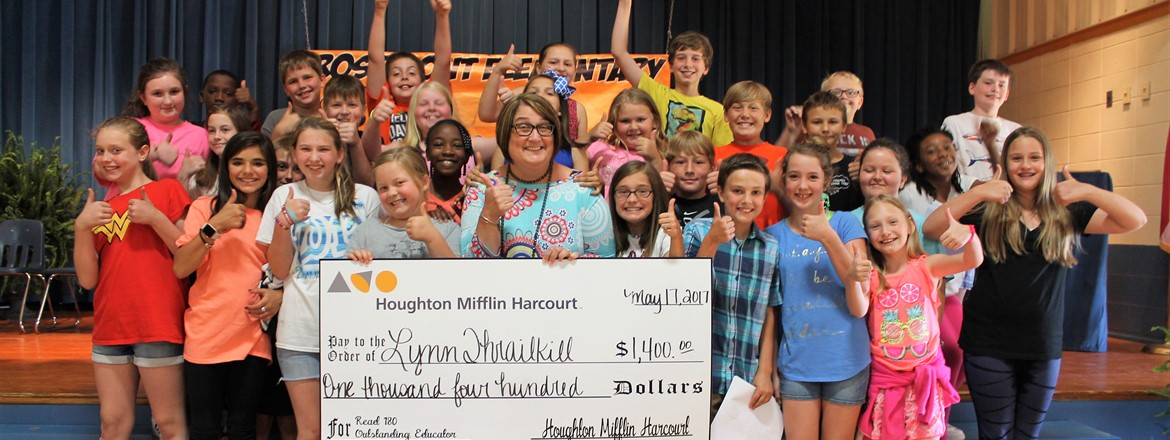 Lynn Thrailkill is Read 180 Elementary Educator of the Year