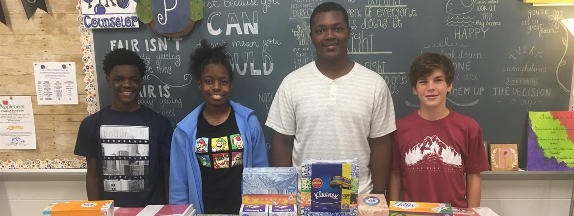 Jr. Beta Club donates classroom supplies for Texas hurricane relief