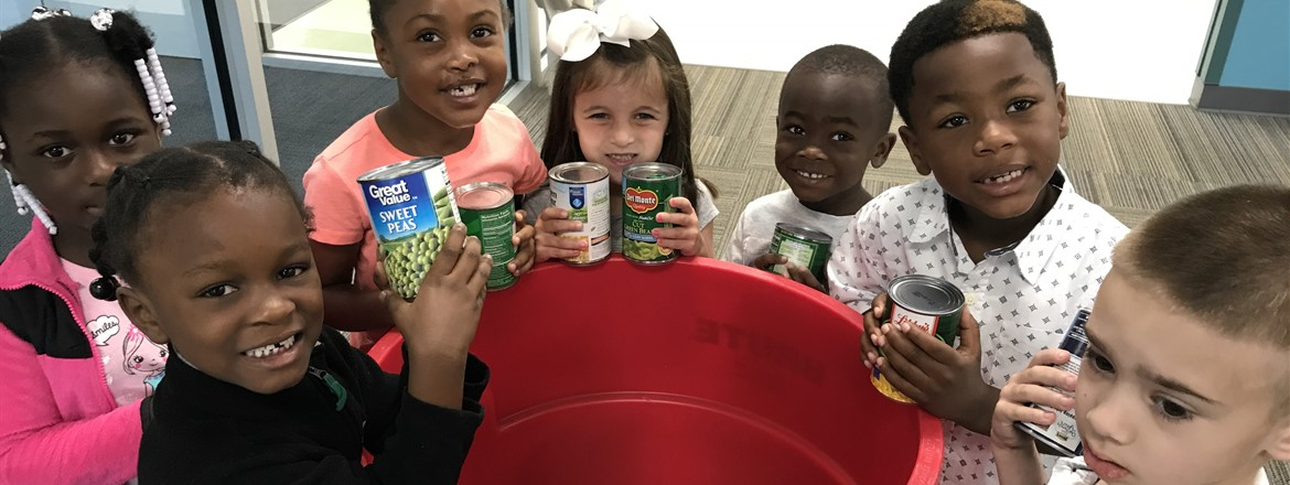Pre-K donates to the can food drive!