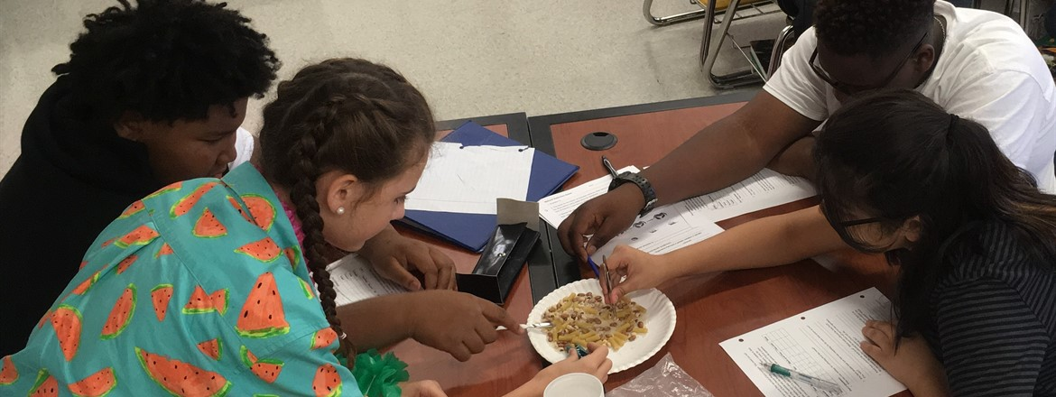 Ms. Cox's class eat like finches after a Virtual Field Trip to the Galapagos Islands