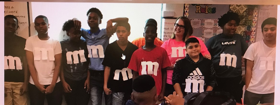 7th Graders twinning as M&M's!