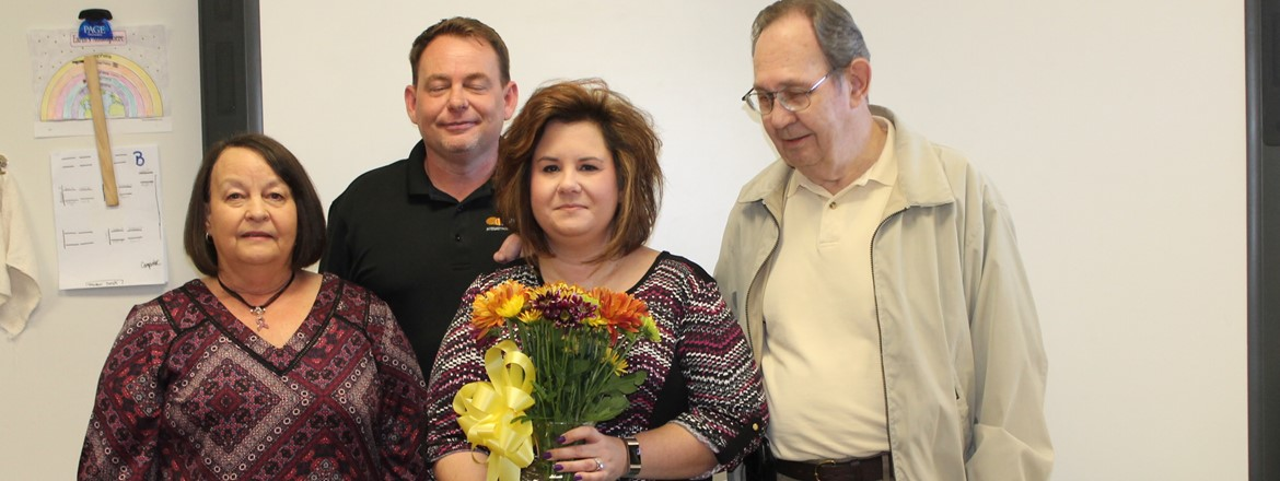 "Leeann Hanner CMS ""Teacher of the Year""."