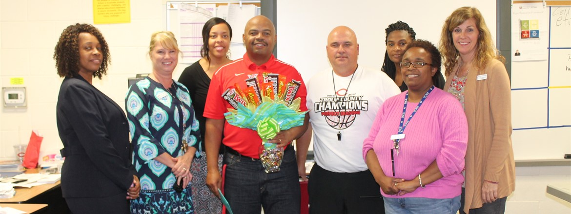"Broderick Stargell CMS ""Teacher of the Year""."