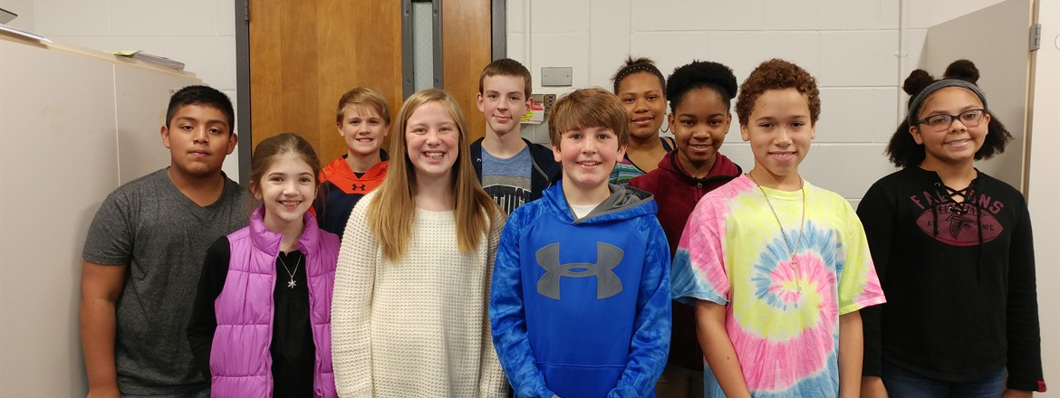 "These students exhibit stellar positive behavior on the 7th-grade hallway. Each student was nominated by his/her teacher for being ""Respectful, Responsible, and Ready to Learn"" every day! Congratulations to these outstanding Mustangs!"