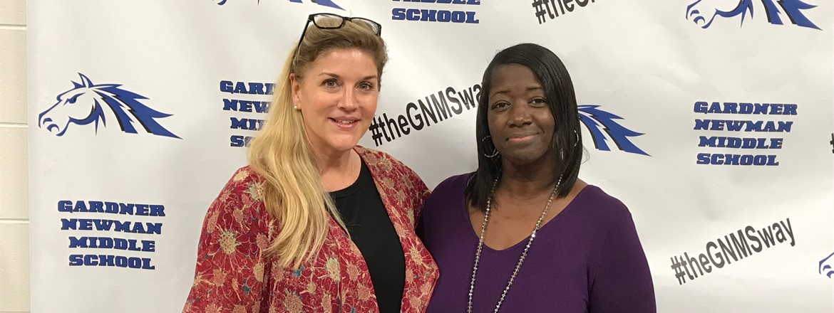 The 2017-2018 GNMS Teachers of the Year... Ms. Lisa O'Neal and Ms. Latacha Hardnett! Congratulations and thanks for your devotion to GNMS!