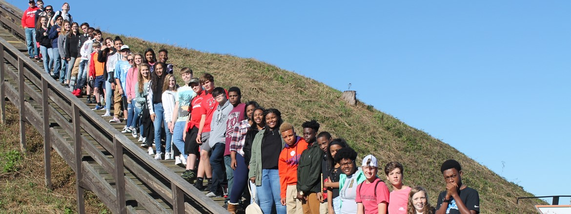 8th Grade Georgia Studies Tour at the Etowah Indian Mounds