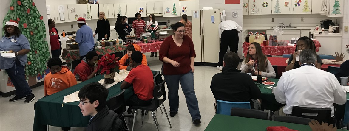Students at GNMS treated the staff and their parents to a Christmas lunch they prepared. Thanks to Ms. Luke-Hill and Ms. Lockhart and their parapros for spreading Christmas joy!