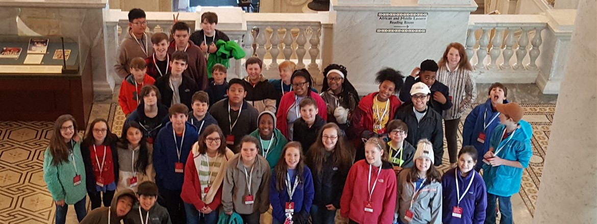 GNMS Mustangs Tour the Library of Congress in Washington, DC.