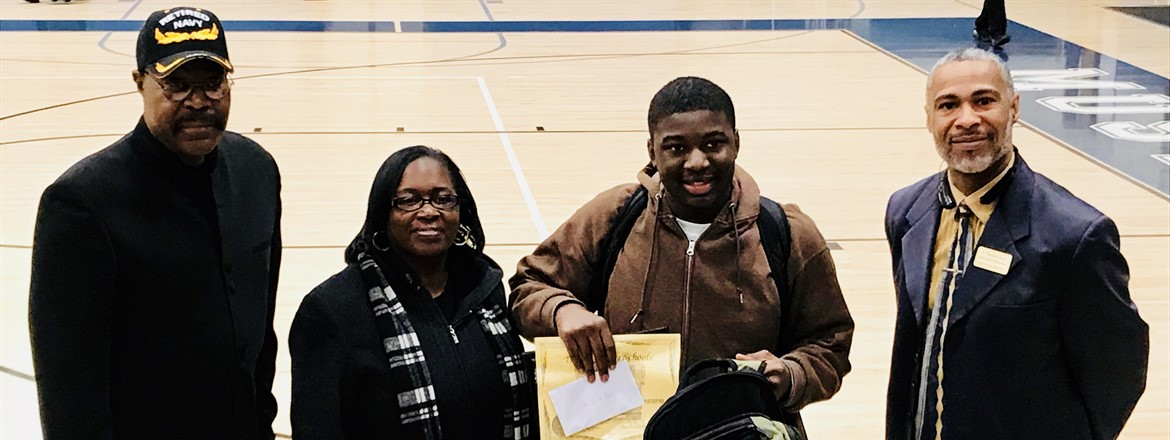 Shiquez Morrison was honored as having stellar bus conduct by the Troup County Schools Transportation Department and GNMS in a ceremony for students who ride 07-95 bus team.
