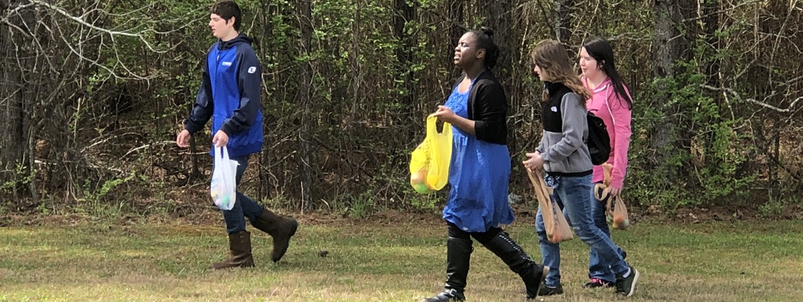 GNMS students enjoy an Egg Hunt sponsored by Kiwanis Club