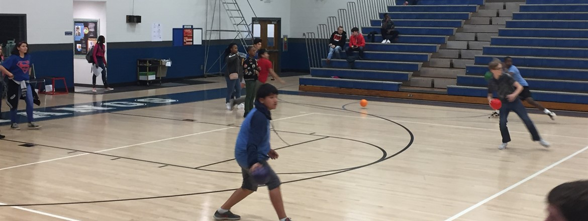 PBIS Dodgeball fun At GNMS!