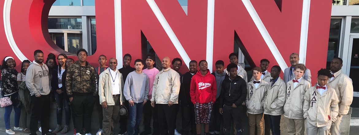 GNMS Boys' Mentoring Group takes trip to Atlanta to see the Hawks play.