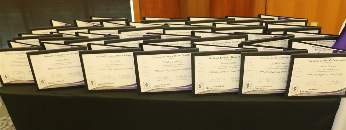 THINC NTHS New Member Certificates