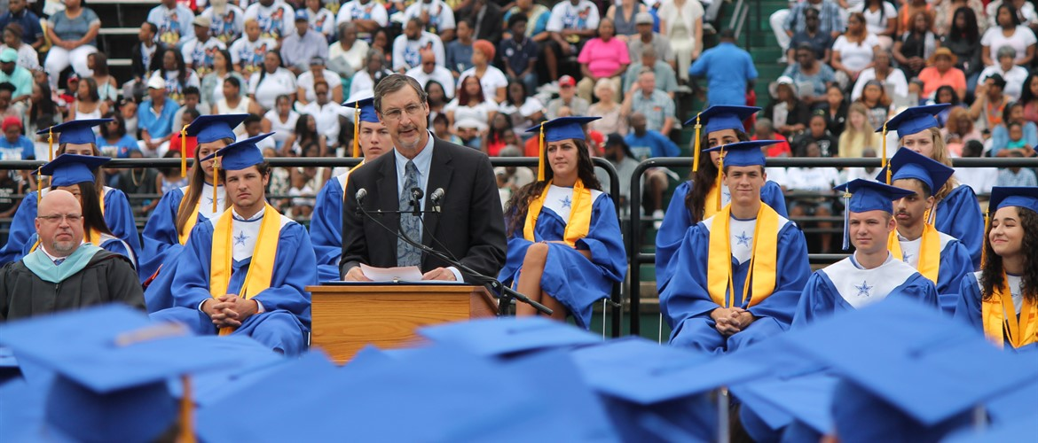 Dr. Pugh at LHS Graduation