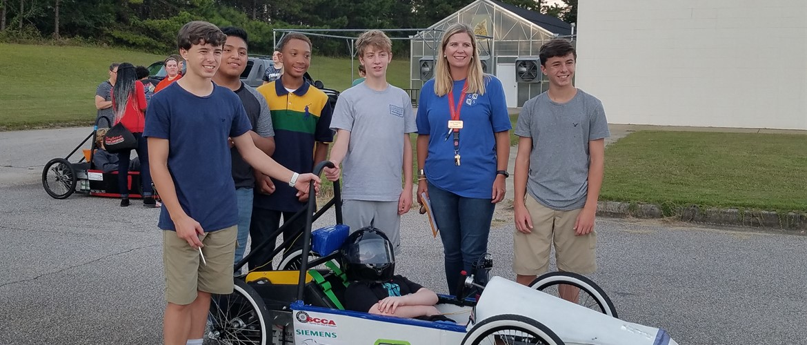 GNMS Greenpower Racing Car Team with Mrs. Huberdeau