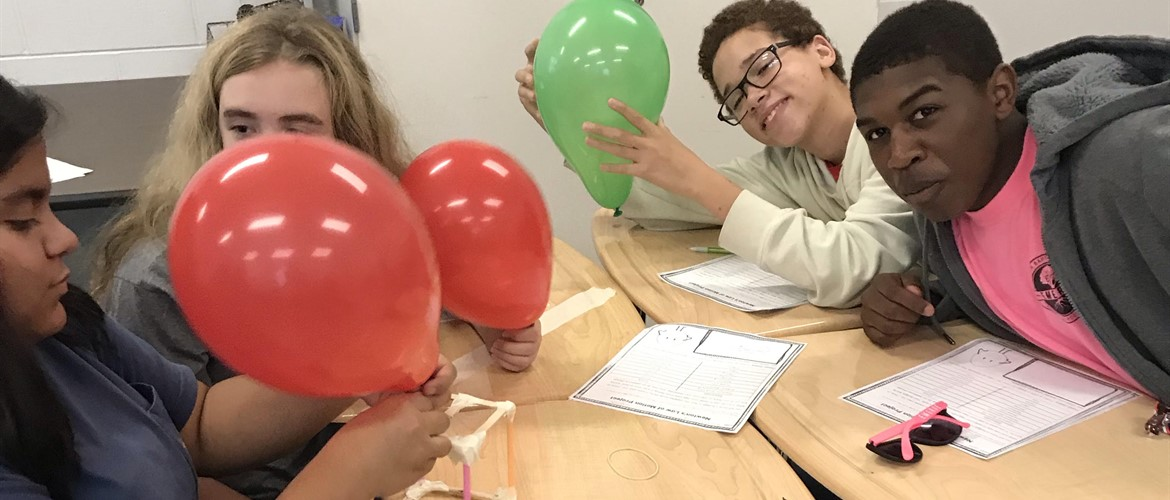 Students build egg drop vehicle to test Newton's Laws of Motion