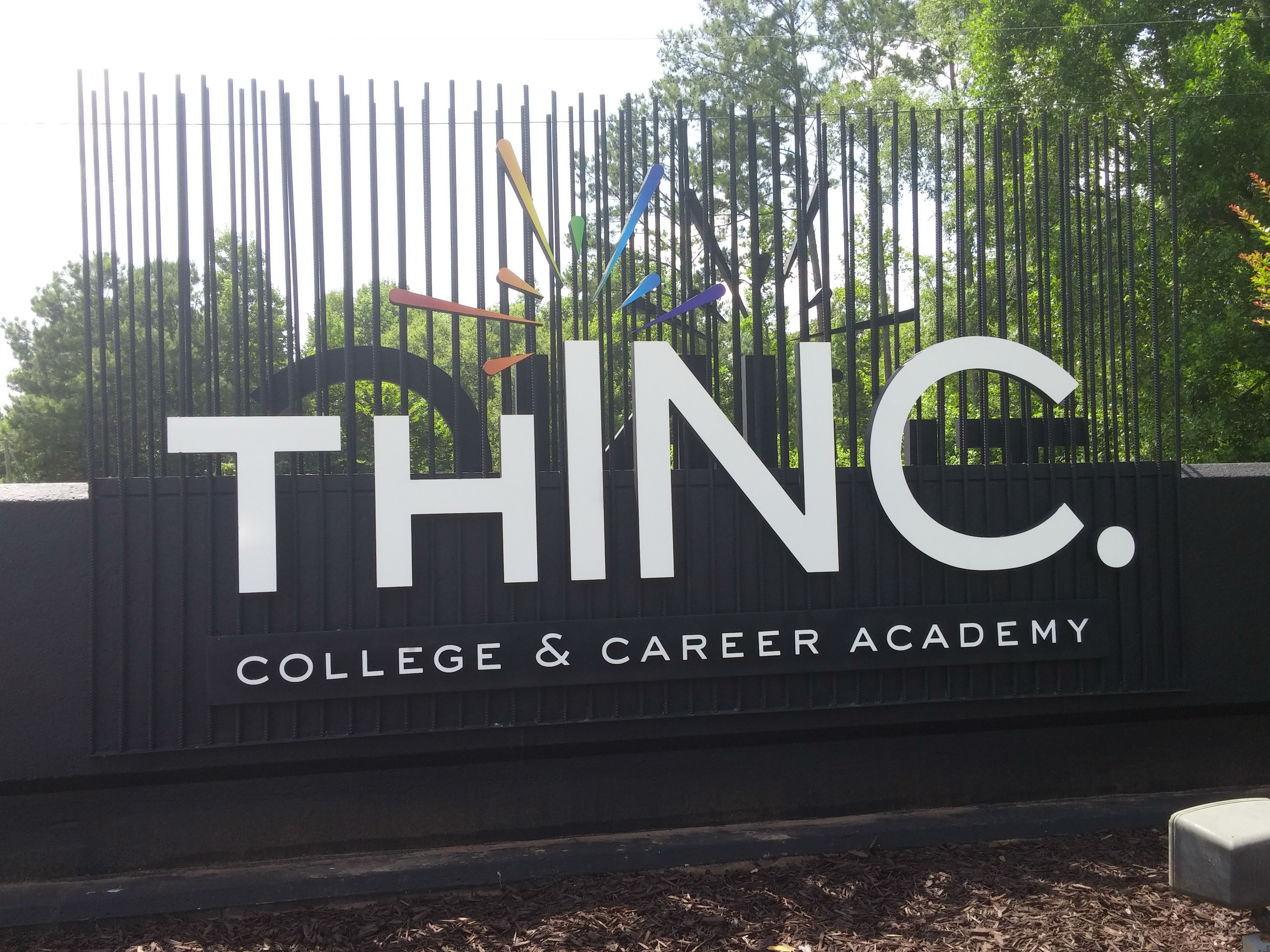 THINC front driveway sign