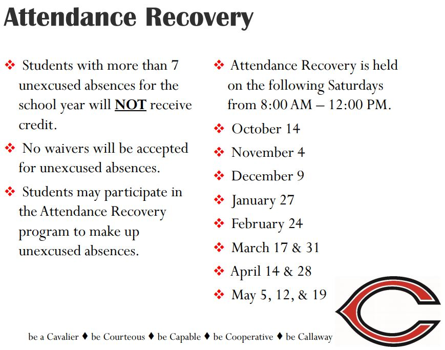 attendance recovery