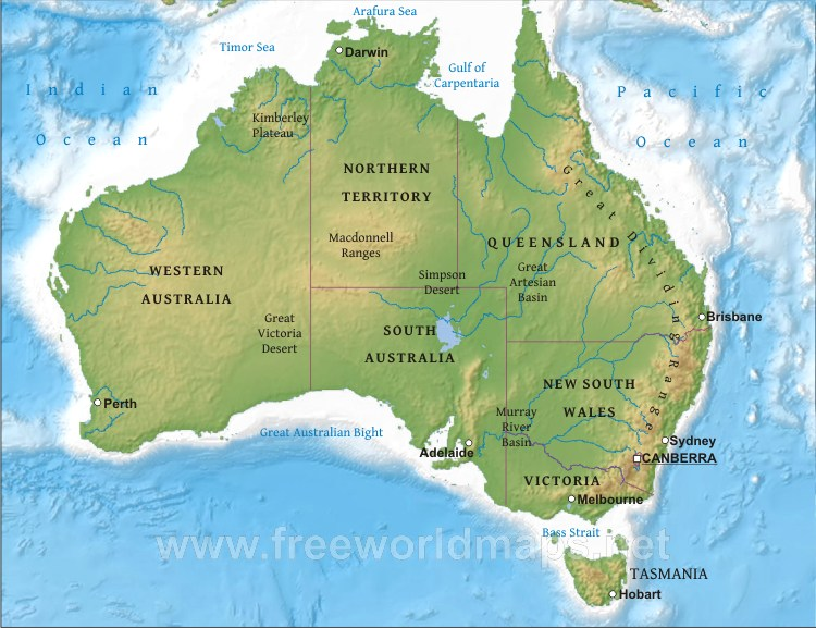 Physical Map Of Canada 6th Grade.6th Grade Social Studies Australia Geography Unit Information