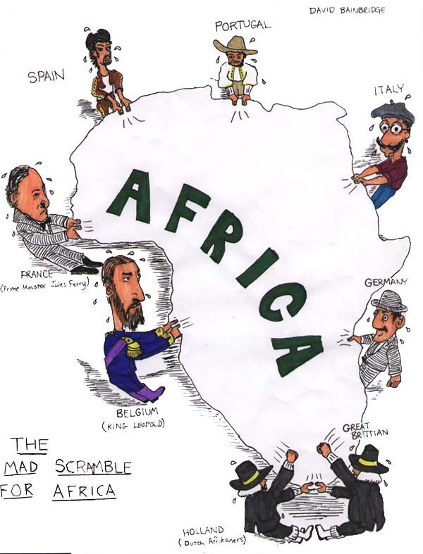 7th grade social studies africa history unit information scramble for africa cartoon sciox Images